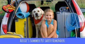 Aussie's Summer Pet Safety Reminders